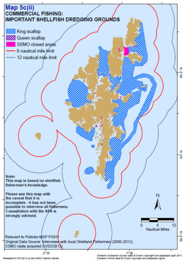 Shetland Shellfish Management Organisation closed areas and the scallop dredge fishery footprint